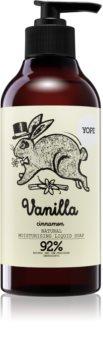 Yope Vanilla & Cinnamon mydło w płynie o dzłałaniu nawilżającym