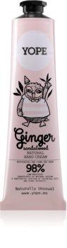 Yope Ginger & Sandalwood crema per le mani nutriente e idratante