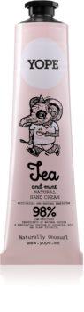 Yope Tea & Mint creme de mãos nutrição e hidratação