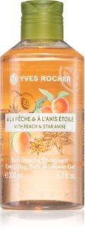 Yves Rocher Peach & Star Anise energizující sprchový gel