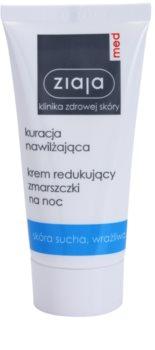 Ziaja Med Hydrating Care creme de noite antirrugas para pele seca e sensível