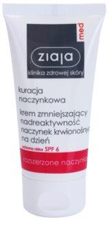 Ziaja Med Capillary Care crema idratante leggera per pelli sensibili con tendenza all'arrossamento SPF 6