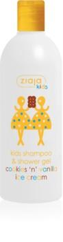 Ziaja Kids Cookies 'n' Vanilla Ice Cream šampon a mycí gel 2 v 1 pro děti