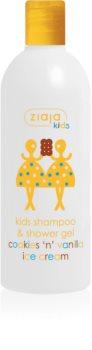 Ziaja Kids Cookies 'n' Vanilla Ice Cream shampoo e gel detergente 2 in 1 per bambini