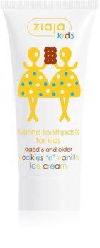 Ziaja Maziajki Cookies 'n' Vanilla Ice Cream pasta do zębów dla dzieci