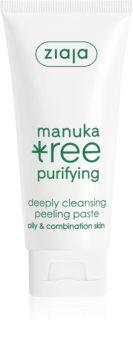 Ziaja Oczysczanie Liscie Manuka oczyszczająca pasta peelingująca do skóry normalnej i mieszanej