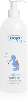 Ziaja Baby olio bagno in crema ipoallergenico per bambini dal 1° mese