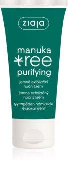 Ziaja Manuka Tree Purifying exfoliačný nočný krém pre mastnú a zmiešanú pleť
