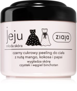 Ziaja Jeju Young Skin Sugar Body Scrub Black