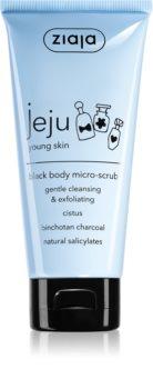 Ziaja Jeju Young Skin piling za čišćenje tijela crni