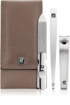 Zwilling Classic Inox Set for Perfect Manicure - Brown
