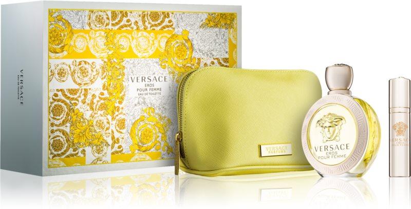 Versace Eros Pour Femme Set (Eau de Parfum100,Eau de Parfum10,pouch)