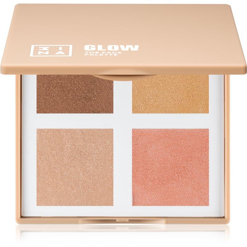 3INA The Face Palette Glow palette di illuminanti 10 g