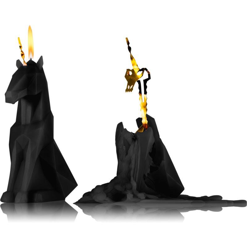 54 Celsius PyroPet EINAR (Unicorn) candela decorativa Black I. 20,3 cm