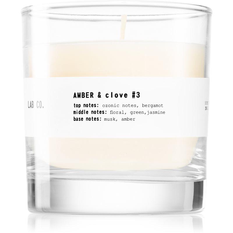 Ambientair Lab Co. Amber & Clove illatos gyertya 200 g