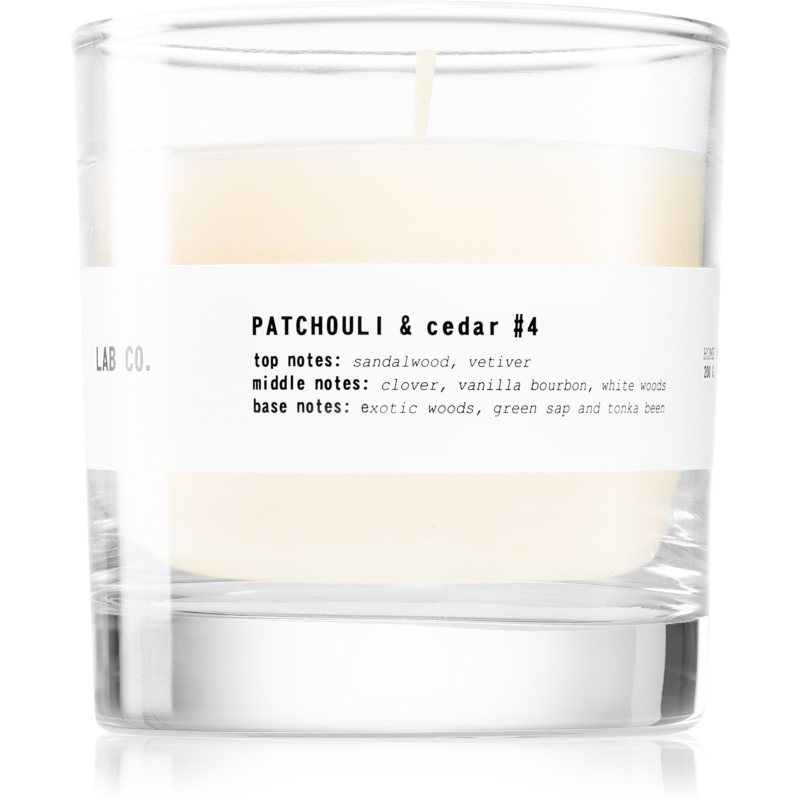 Ambientair Lab Co. Patchouli & Cedar illatos gyertya 200 g
