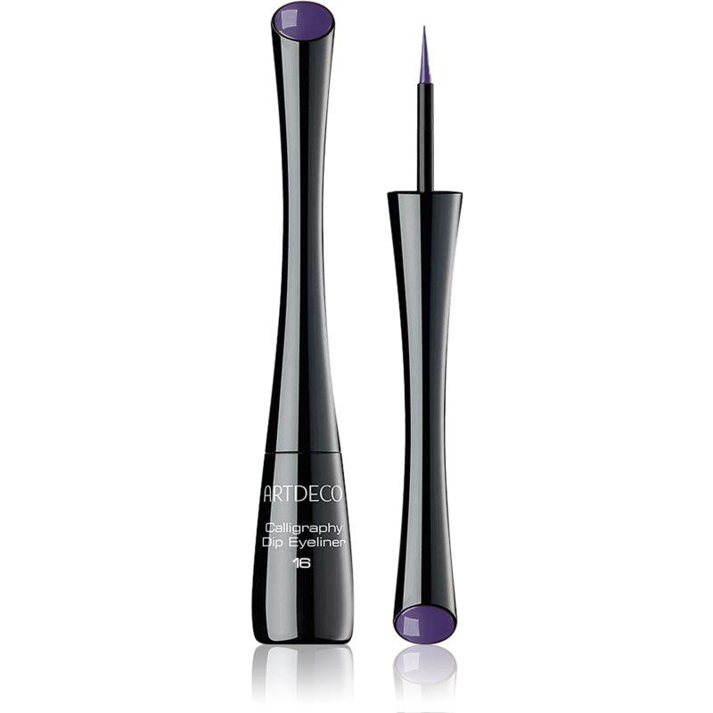 Artdeco Calligraphy Dip Eyeliner tekuté oční linky odstín 16 Galactic Violet 2.5 ml