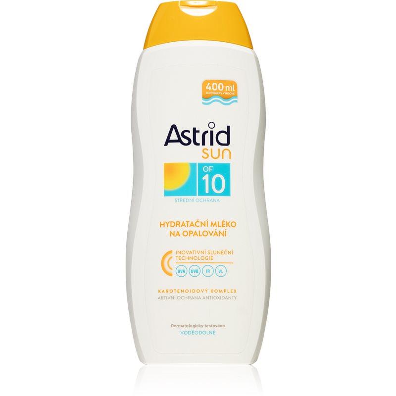 Astrid Sun hydratační mléko na opalování voděodolné SPF 10 400 ml