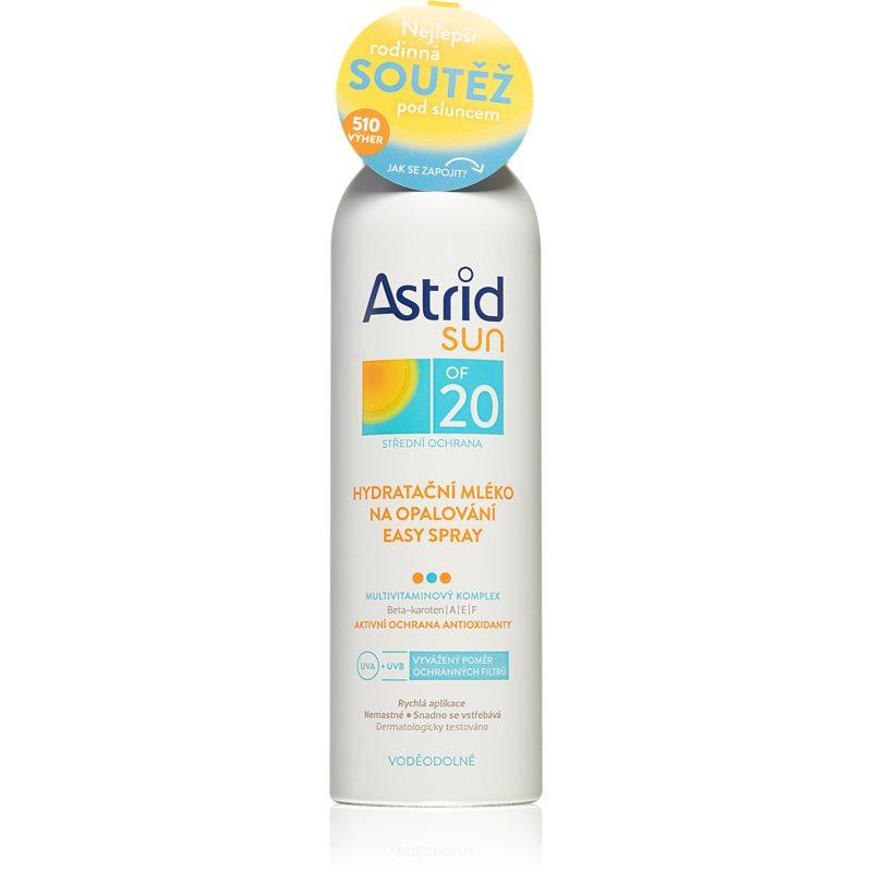 Astrid Sun hydratační mléko na opalování ve spreji SPF 20 150 ml