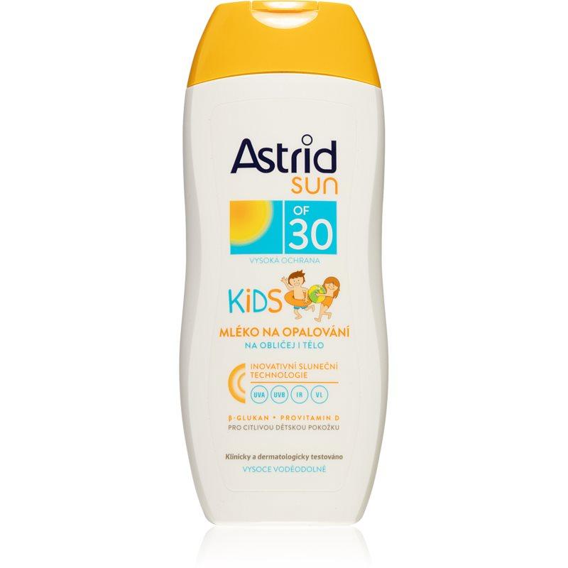 Astrid Sun dětské mléko na opalování na obličej a tělo SPF 30 200 ml