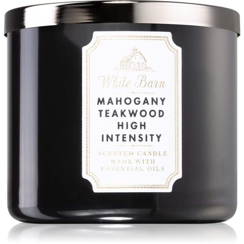 Bath & Body Works White Barn Mahogany Teakwood High Intensity vonná svíčka I. 411 g