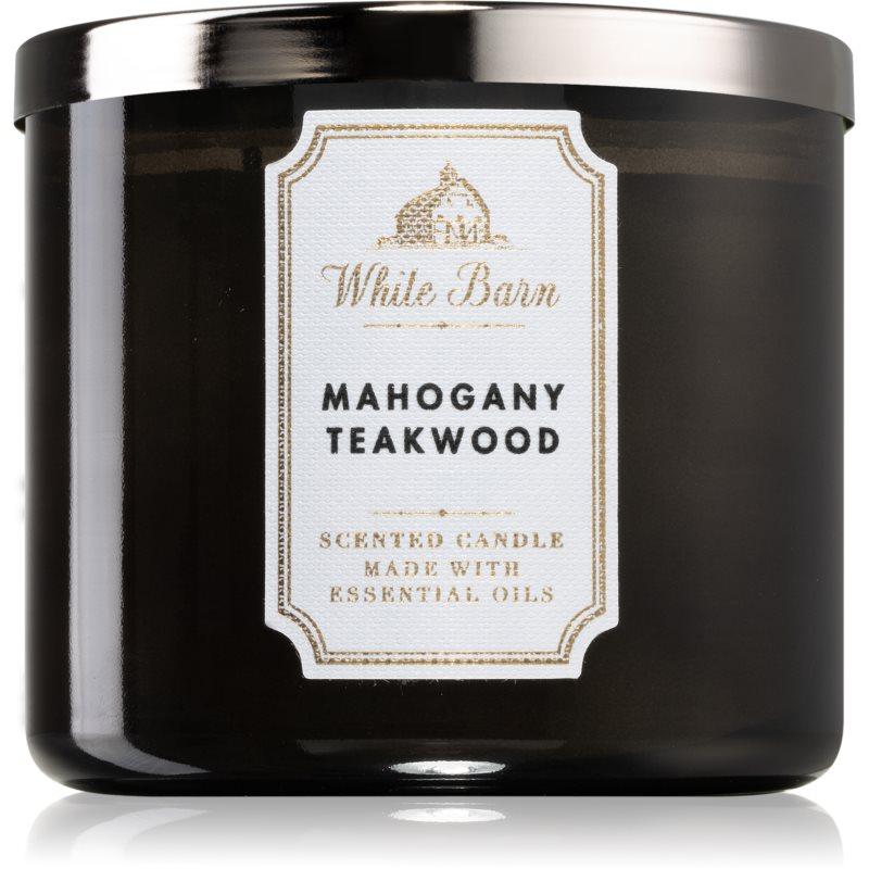 Bath & Body Works White Barn Mahogany Teakwood vonná svíčka I. 411 g