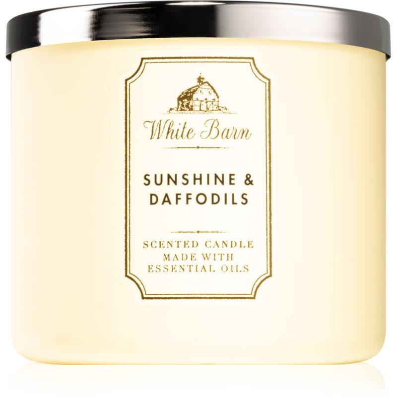 Bath & Body Works Sunshine and Daffodils vonná svíčka 411 g
