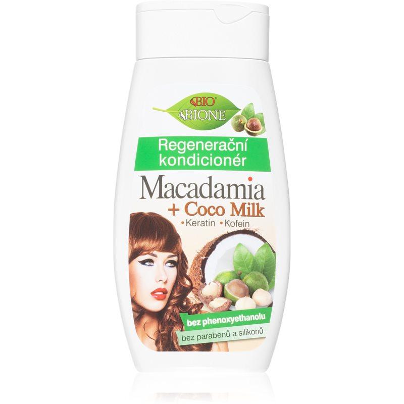 Bione Cosmetics Macadamia + Coco Milk après-shampoing régénérant pour cheveux 260 ml