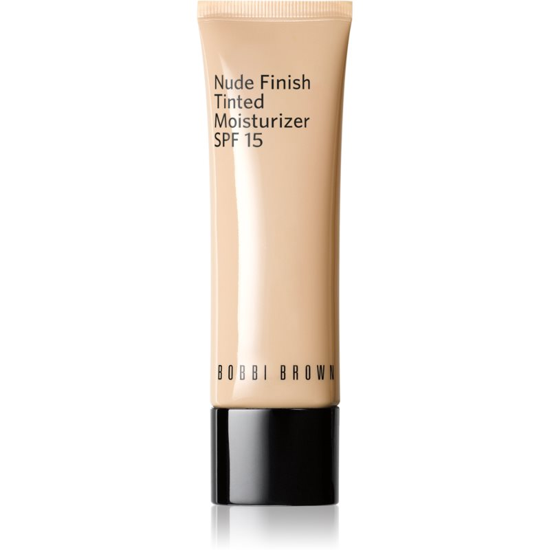 Bobbi Brown Nude Finish Tinted Moisturzier könnyű hidratáló make-up SPF 15 árnyalat DARK TINT 50 ml