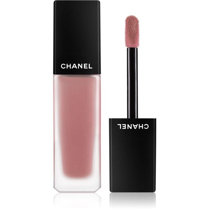Chanel Rouge Allure Ink Fusion lehká tekutá matná rtěnka odstín 804 - Mauvy Nude 6 ml