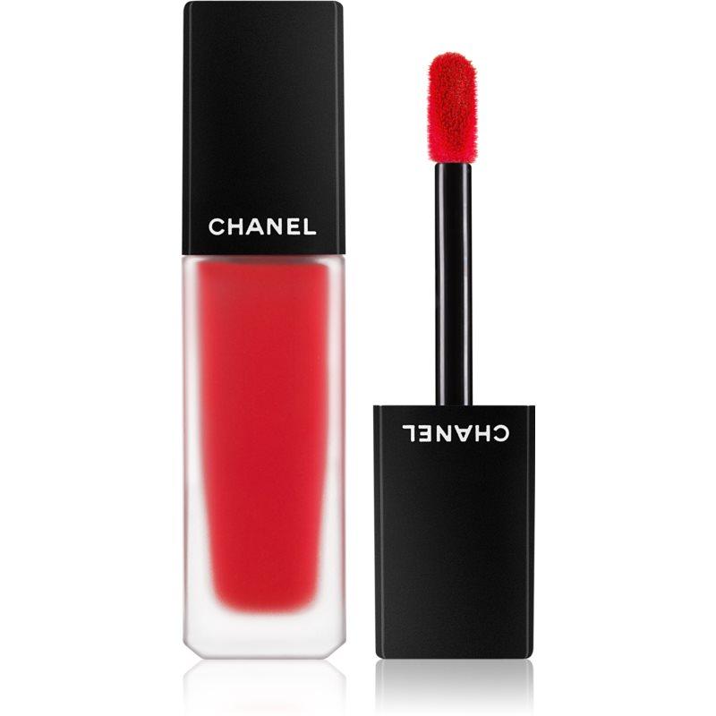 Chanel Rouge Allure Ink Fusion lehká tekutá matná rtěnka odstín 818 - True Red 6 ml