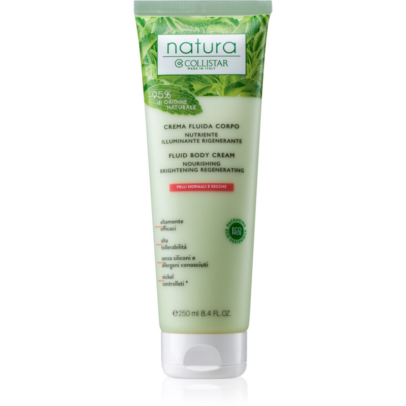 Collistar Natura Fluid Body Cream vyživující tělový krém 250 ml