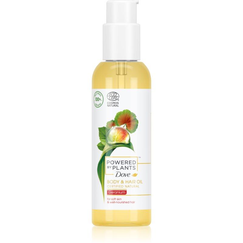 Dove Powered by Plants Geranium olio nutriente per corpo e capelli 100 ml