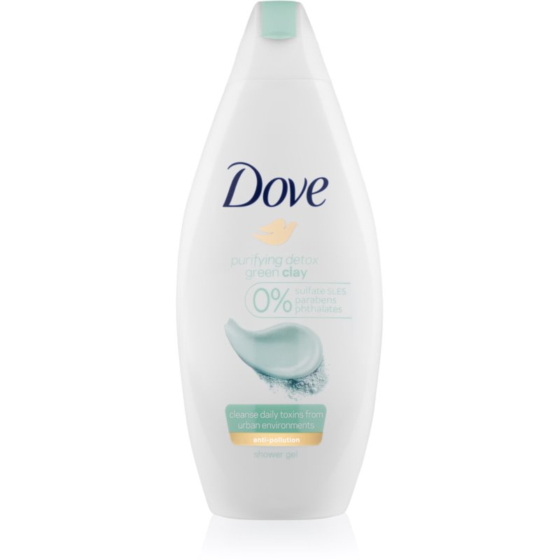 Dove Purifying Detox Green Clay tisztító tusoló gél 250 ml