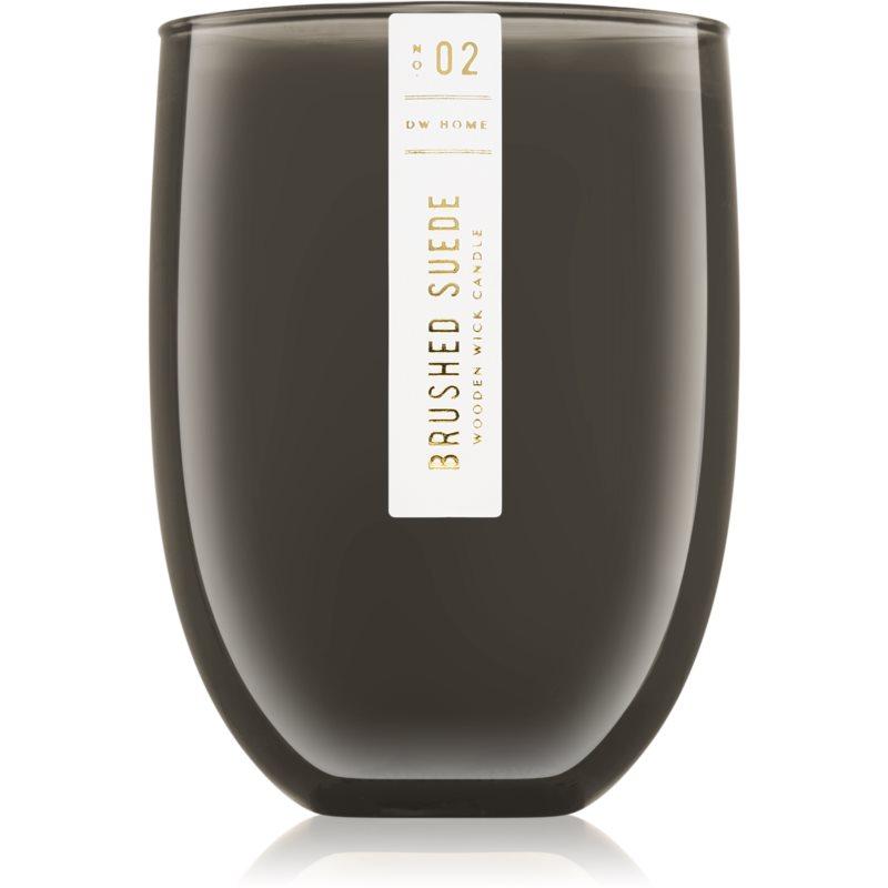 DW Home Brushed Suede bougie parfumée avec mèche en bois 437 g