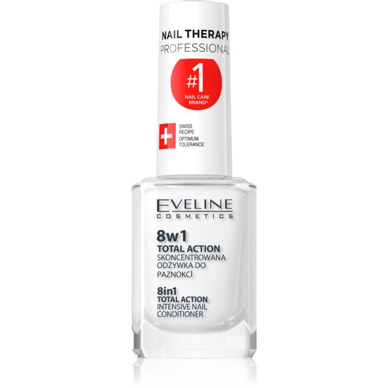 Eveline Cosmetics Nail Therapy conditionneur pour ongles 8 en 1 version innovée qui ne contient pas de formaldéhyde 12 ml