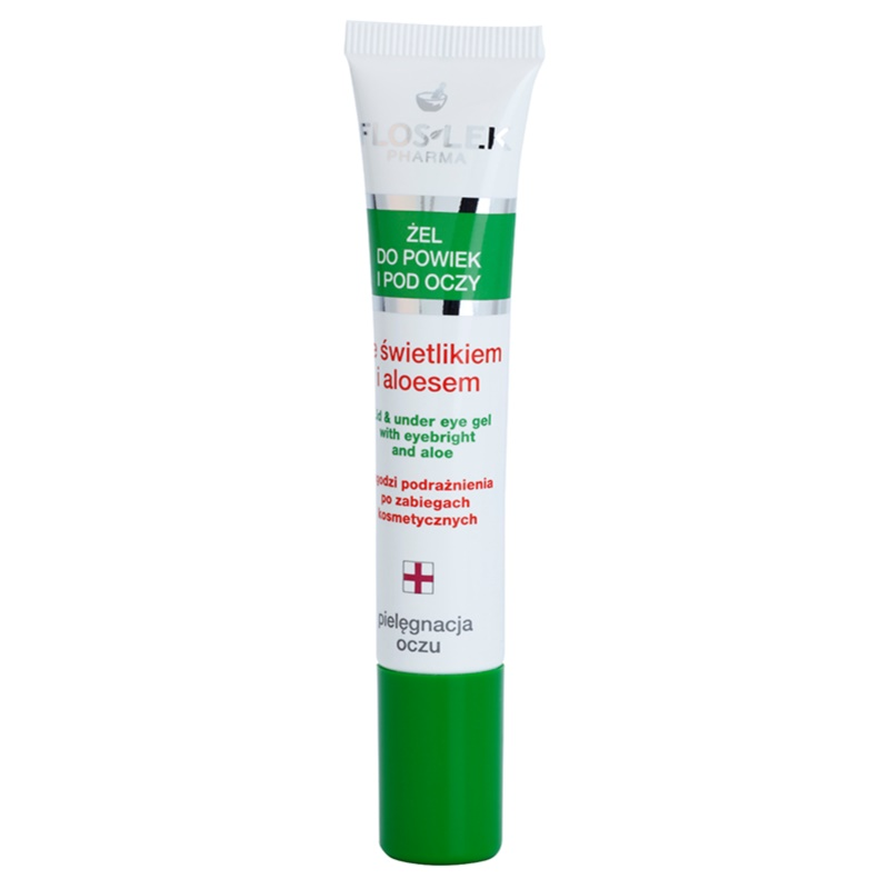 FlosLek Pharma Eye Care gel contour des yeux à l'euphraise et aloe vera 15 ml