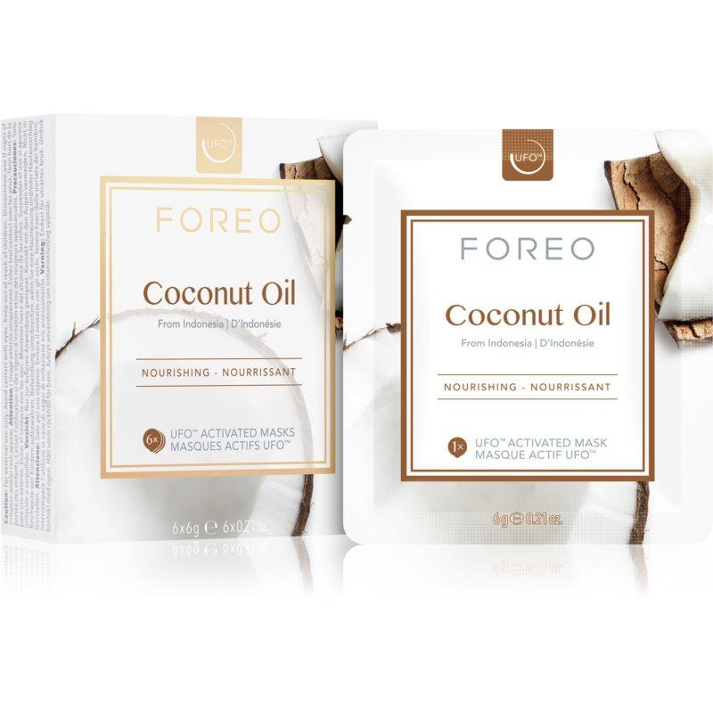 FOREO Farm to Face Coconut Oil hĺbkovo vyživujúca maska 6 x 6 g