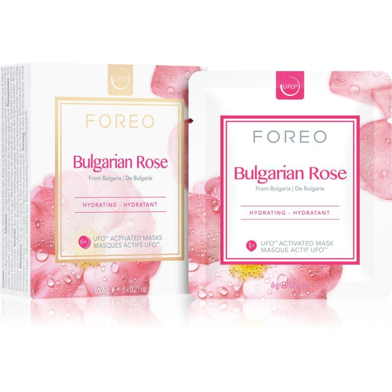 FOREO Farm to Face Bulgarian Rose hydratačná maska 6 x 6 g