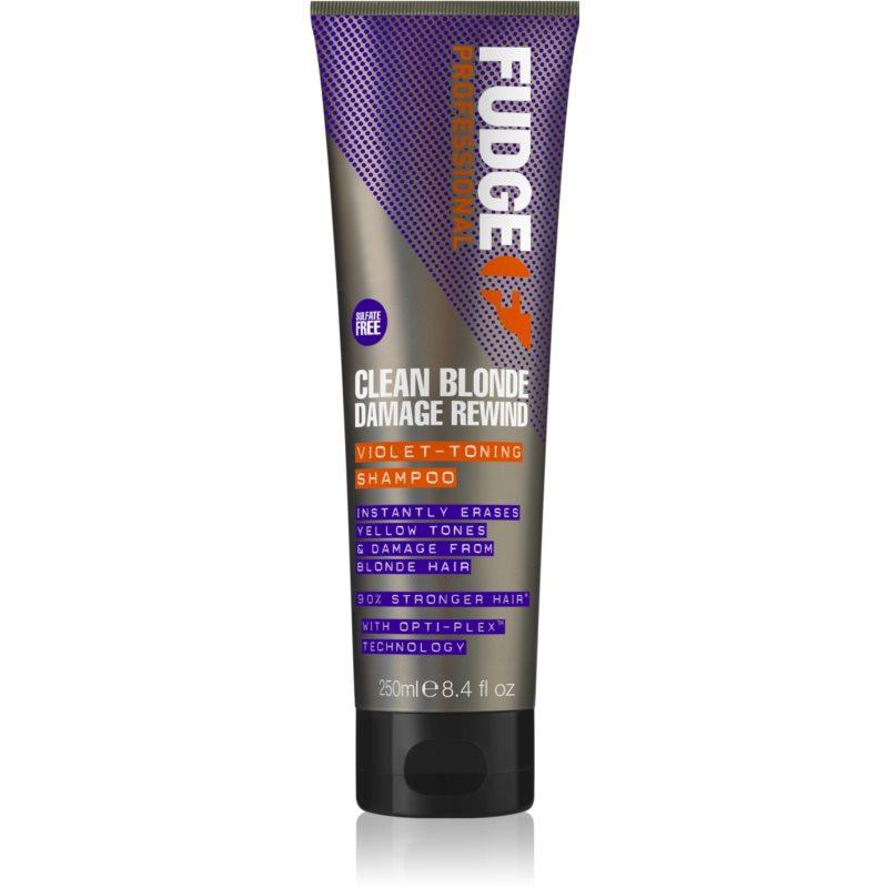 Fudge Care Clean Blonde shampoing tonifiant violet pour cheveux blonds et méchés 250 ml