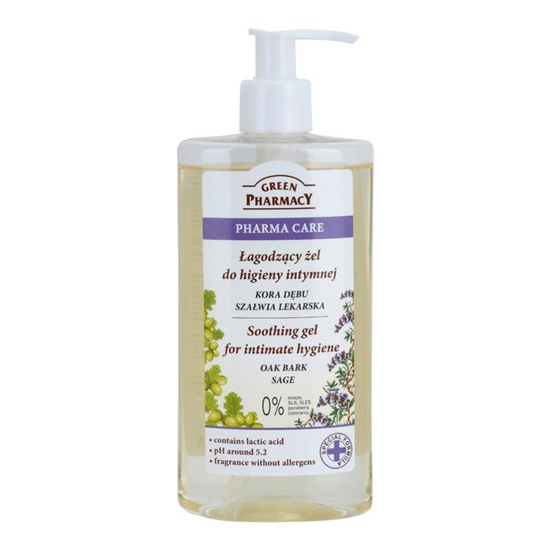 Green Pharmacy Pharma Care Oak Bark Sage gel apaisant pour la toilette intime 300 ml