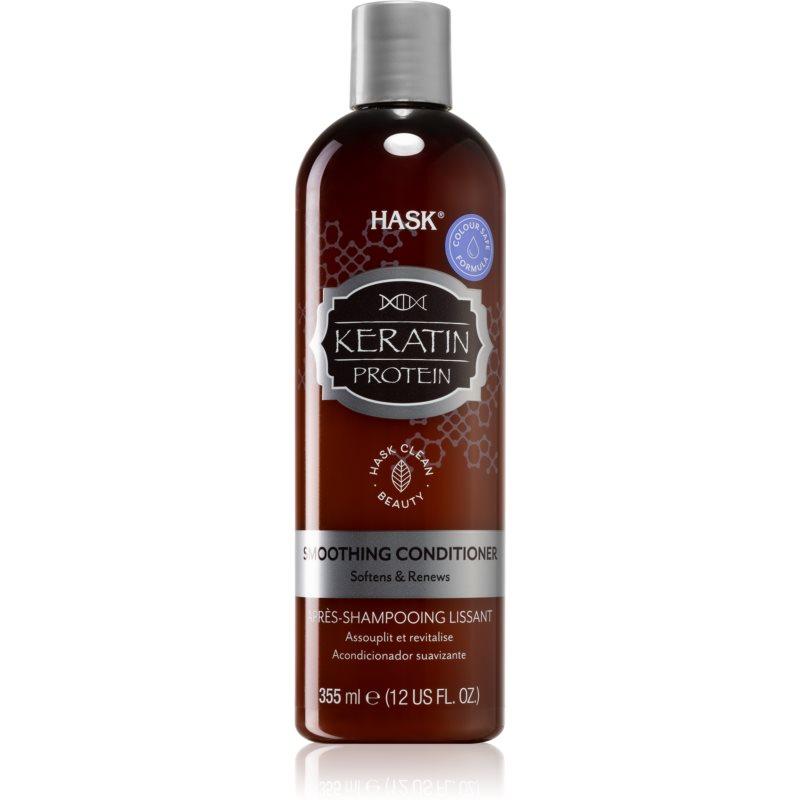 HASK Keratin Protein après-shampooing lissant pour cheveux abîmés et traités chimiquement 355 ml