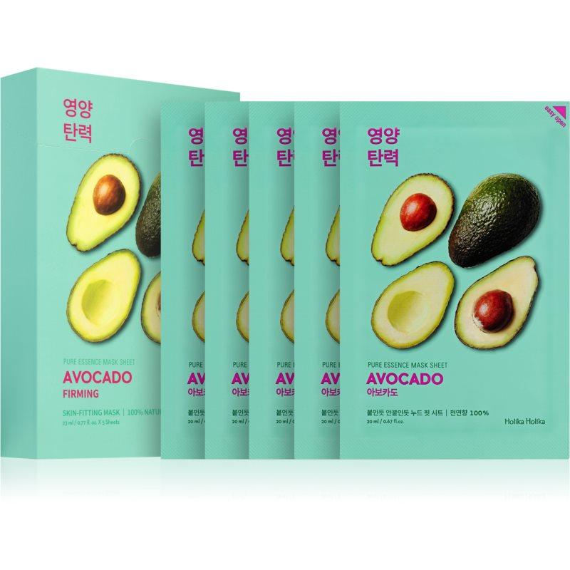 Holika Holika Pure Essence Avocado maschera lenitiva in tessuto 5x20 ml