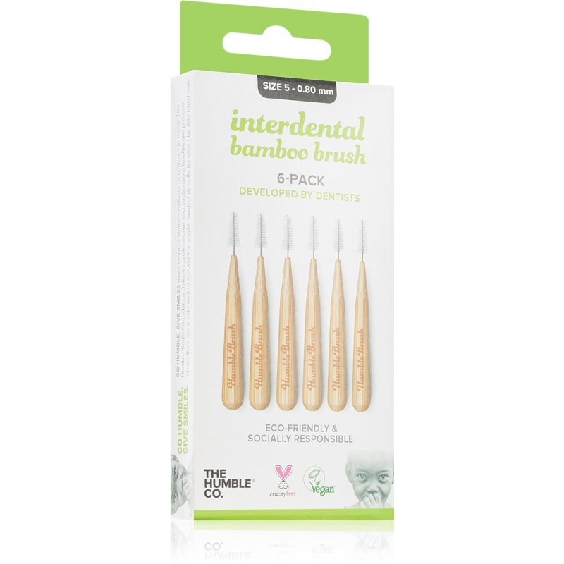 The Humble Co. Interdental Brush brossette interdentaire 6 pcs 0,80mm