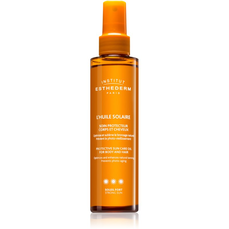 Institut Esthederm Sun Care Protective Sun Care Oil For Body And Hair huile solaire corps et cheveux haute protection solaire 150 ml