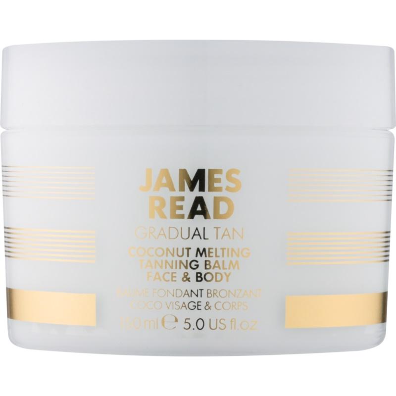 James Read Gradual Tan Coconut Melting κρέμα αυτομαυρίσματος για σώμα και πρόσωπο με έλαιο ινδοκάρυδου 150 μλ