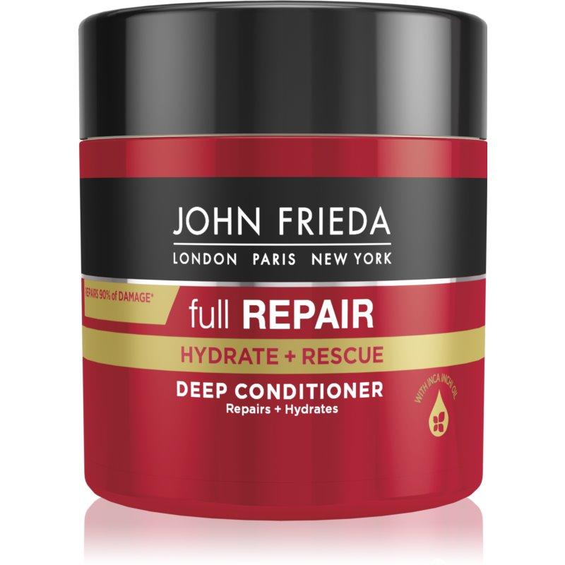John Frieda Full Repair Hydrate+Rescue après-shampoing régénérateur en profondeur pour un effet naturel 150 ml