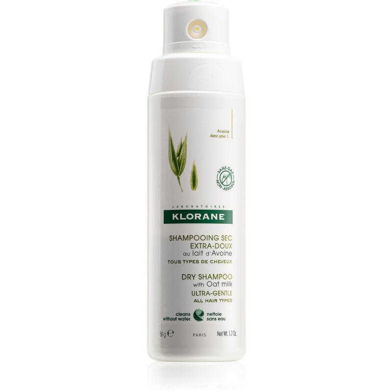 Klorane Lait d'avoine shampoing sec non-aérosol pour tous types de cheveux 50 g
