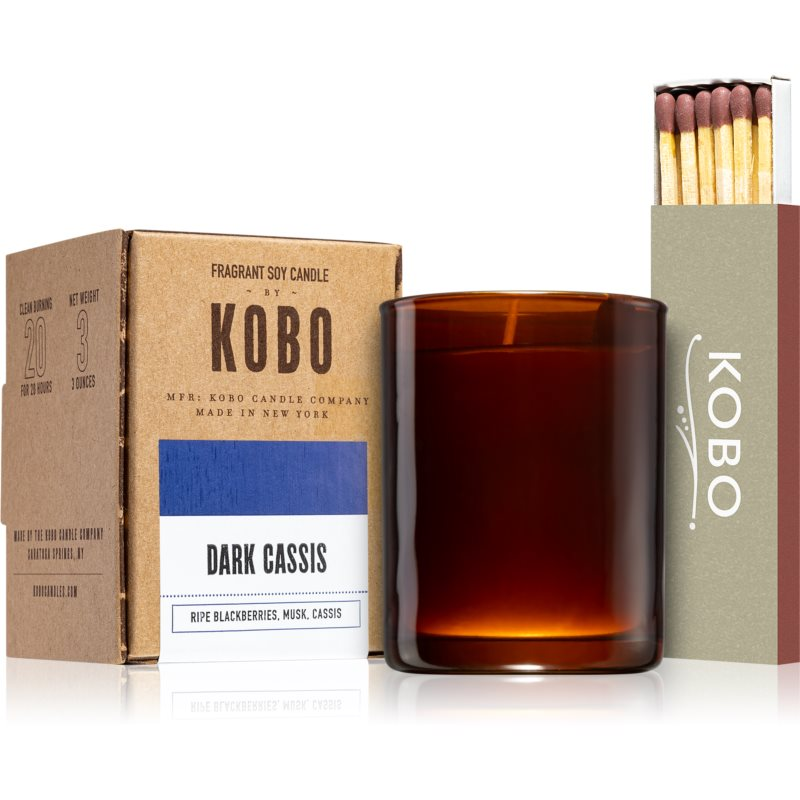 KOBO Woodblock Dark Cassis candela votiva 85 g