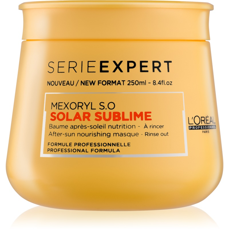 L'Oréal Professionnel Serie Expert Solar Sublime vyživující maska pro vlasy namáhané chlórem, sluncem a slanou vodou 250 ml